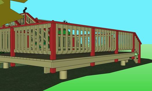 From the playground of sketchup to the field of reality for Sketchup deck design