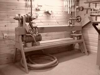 how to build wood lathe